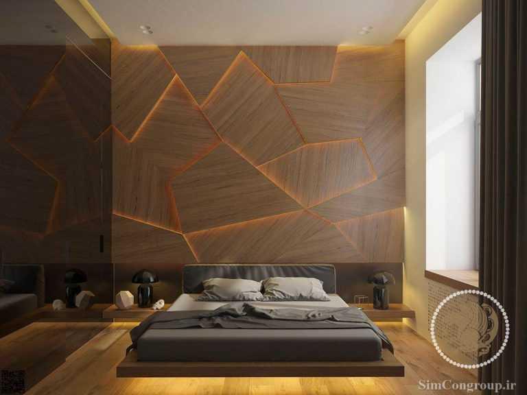 طرح چوب در رنگ اتاق خواب