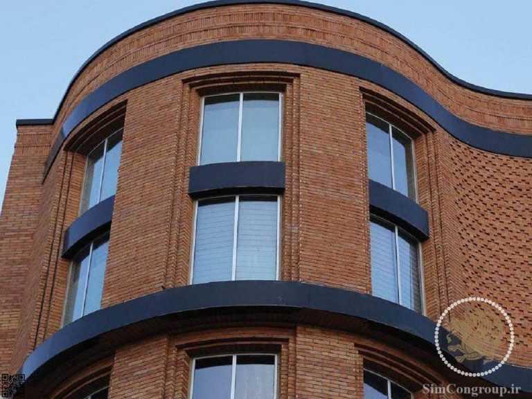نمای آجری ساختمان
