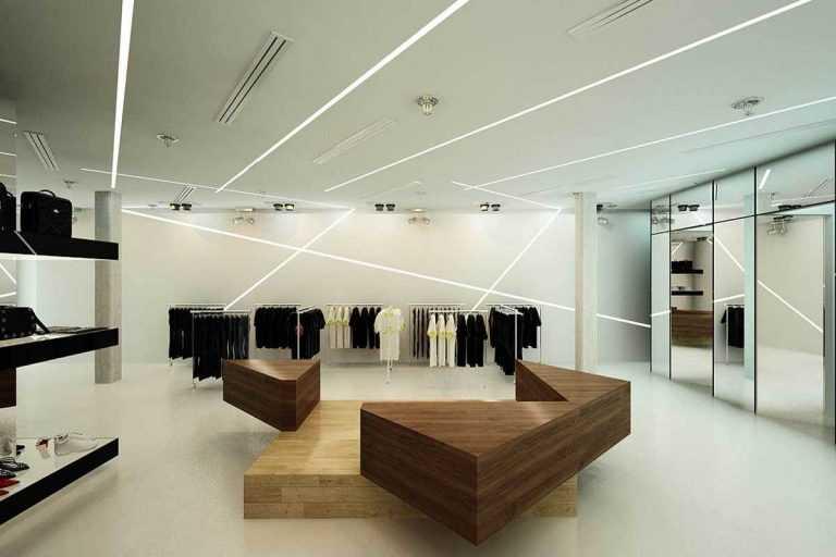 دکوراسیون مغازه پوشاک مدرن