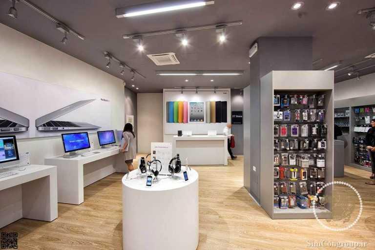 دکوراسیون موبایل فروشی کوچک