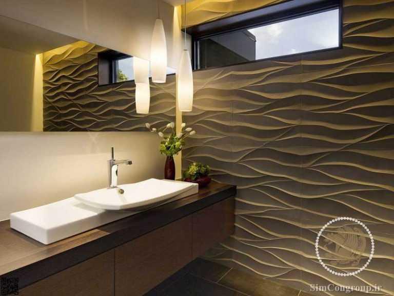 دیوار پوش در دکوراسیون حمام