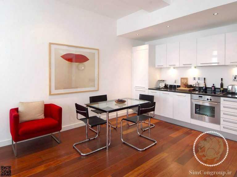 طراحی آشپزخانه خانه کوچک
