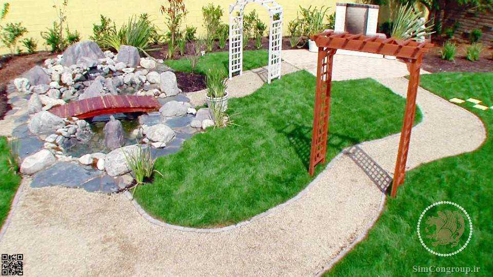 طراحی باغچه حیاط طراحی حیاط ویلا محوطه سازی حیاط