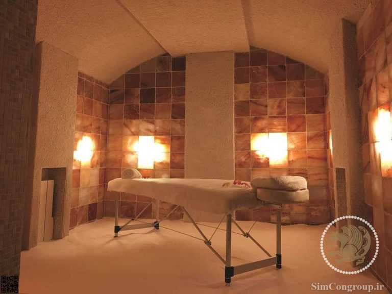 طراحی دیوار اتاق ماساژ و اپیلاسیون