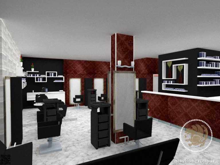 طراحی سه بعدی آرایشگاه زنانه