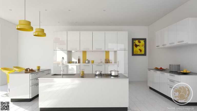 طراحی سه بعدی دکوراسیون آشپزخانه