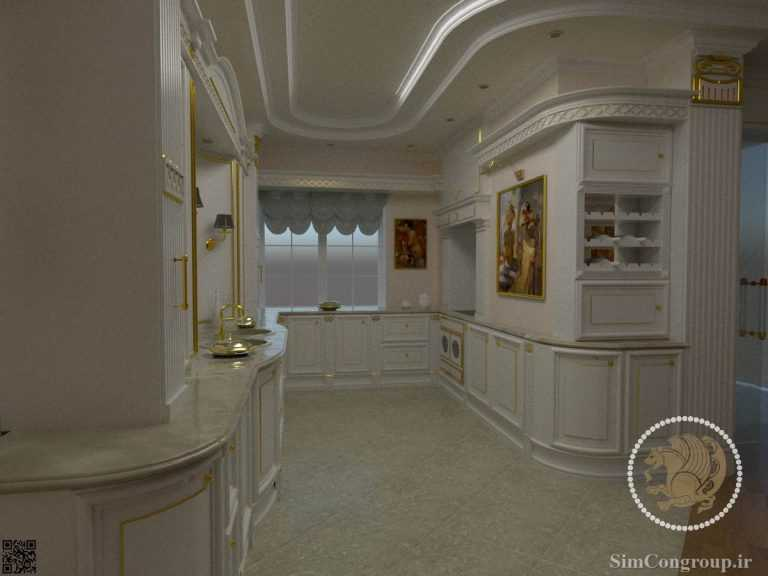 طراحی کابینت آشپزخانه ممبران