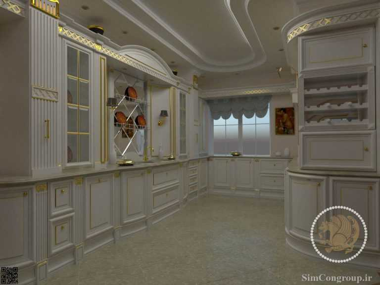 طرحی سه بعدی کابینت آشپزخانه ممبران