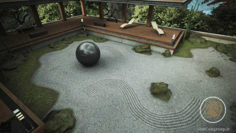 محوطه سازی حیاط باغ ژاپنی