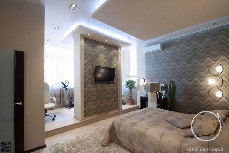 نورمخفی سقف برای اتاق خواب