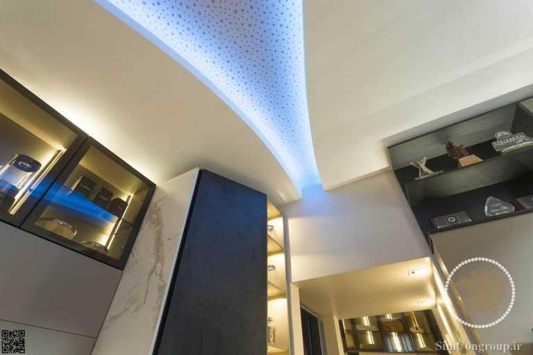 نورپردازی سقف کناف اتاق پذیرایی