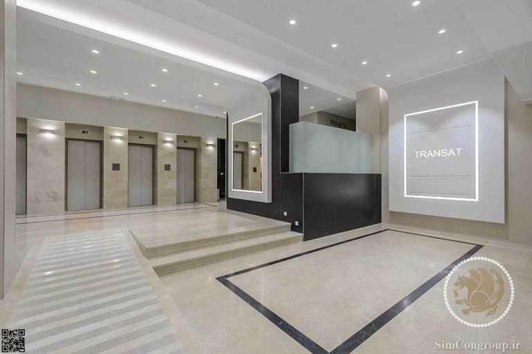 نورپردازی لابی هتل