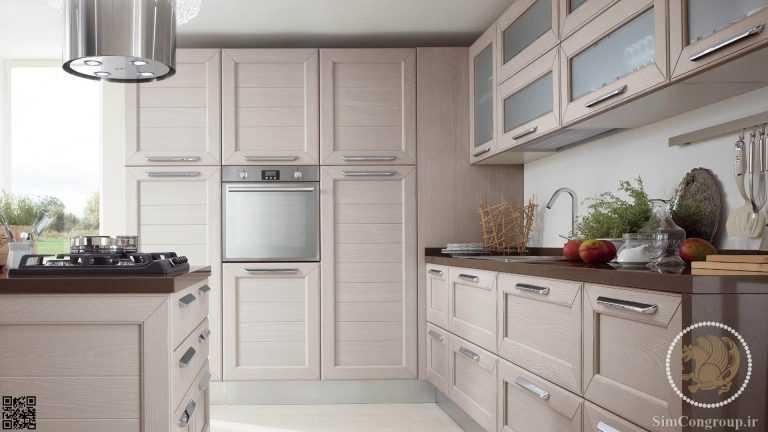 کابینت آشپزخانه ام دی اف سفید