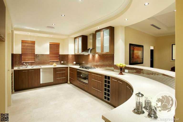 کابینت آشپزخانه با رویه سنگ کورین