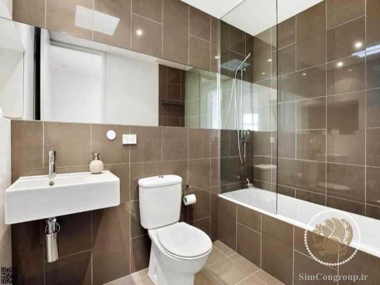 کاشی در دکوراسیون سرویس دستشویی