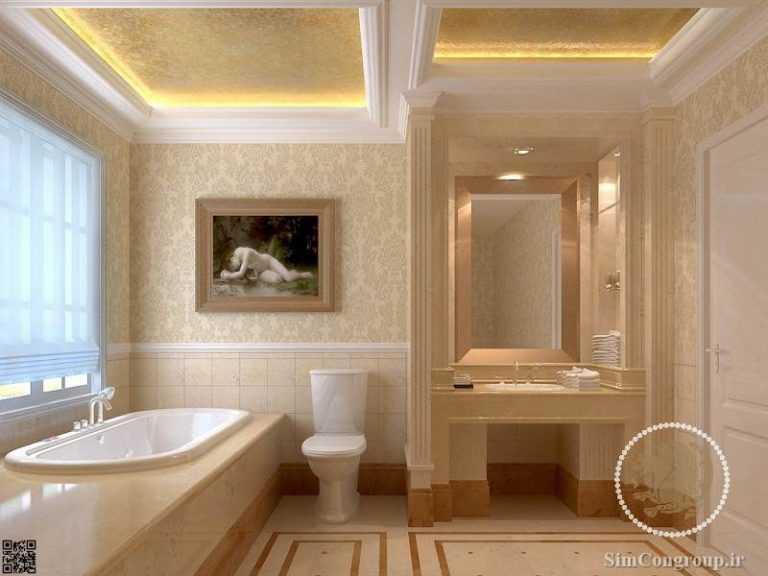 کاغذ دیواری در دکوراسیون حمام