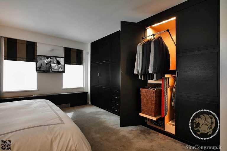 کمد دیواری ام دی اف اتاق خواب