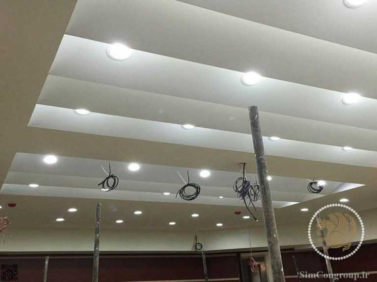 نورپردازی کناف سقف ساختمان
