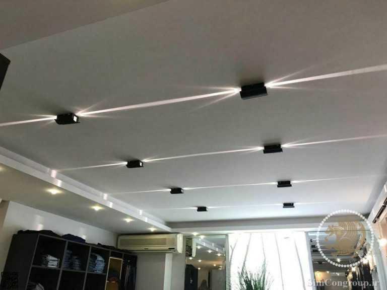 نورپردازی کناف سقف فلت