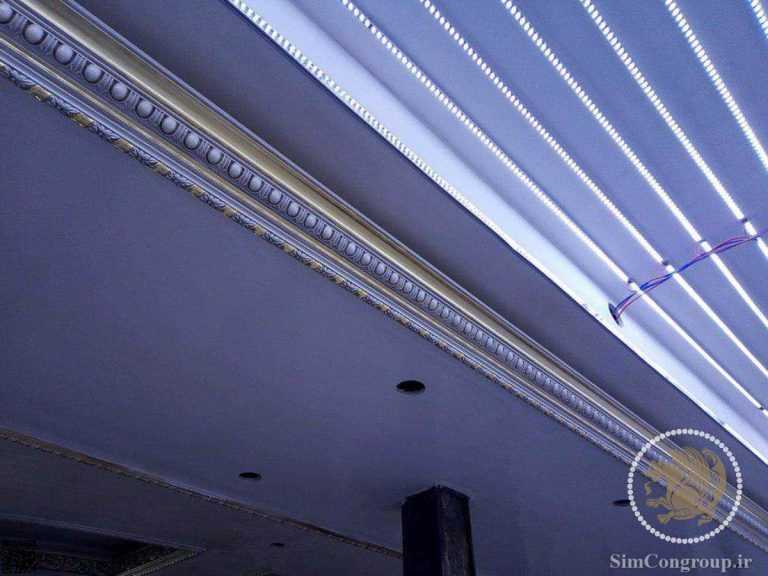 نورپردازی گچبری سقف خانه