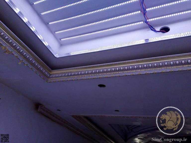 نورپردازی گچبری سقف ساختمان