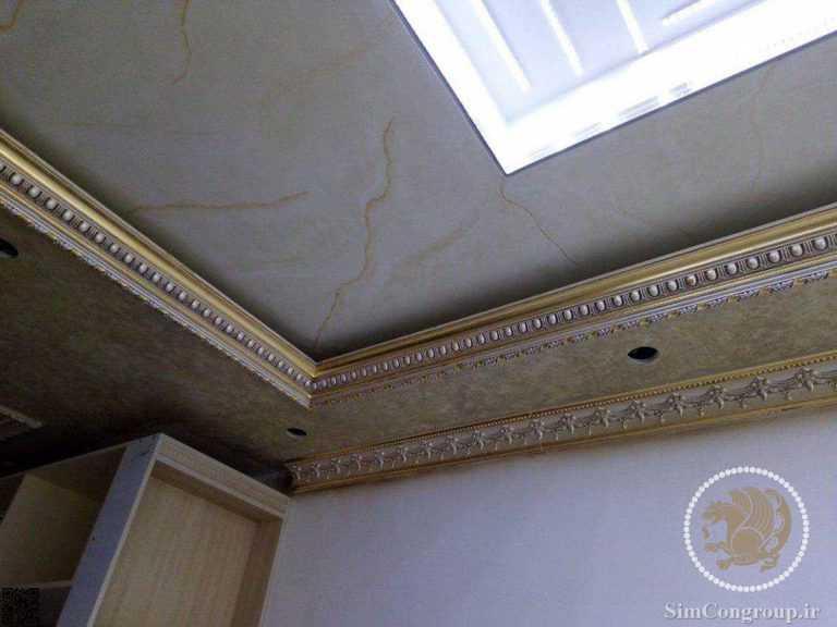نورپردازی گچبری سقف منزل