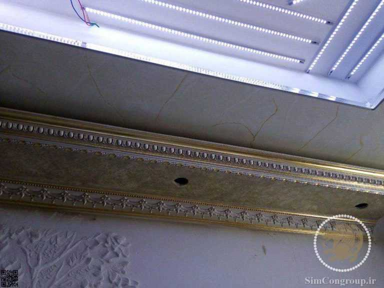 نورپردازی گچبری سقف