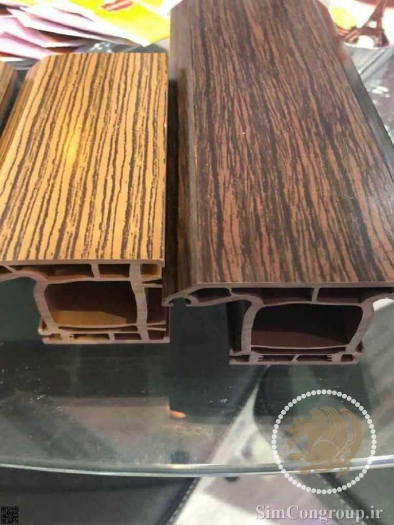 پروفیل پنجره دوجداره طرح چوب