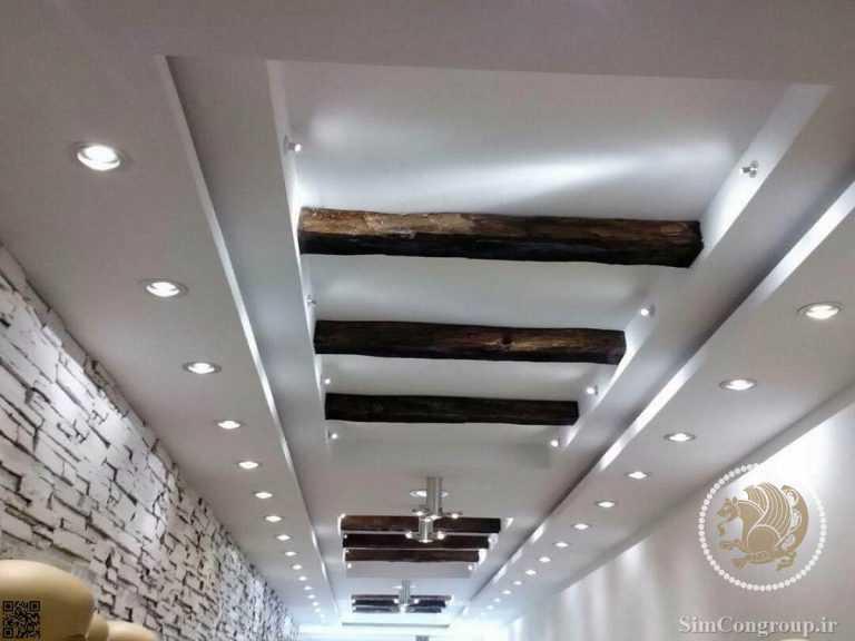 کناف سقف و چوب
