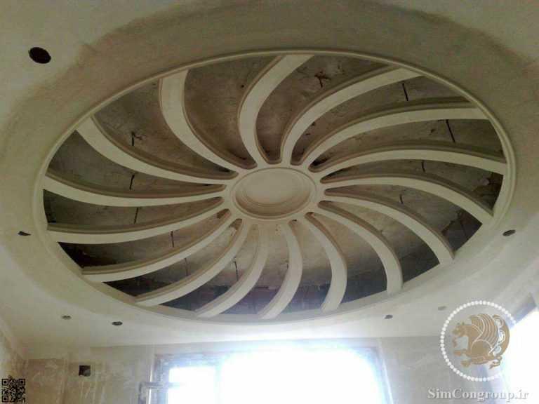گچبری سقف خانه