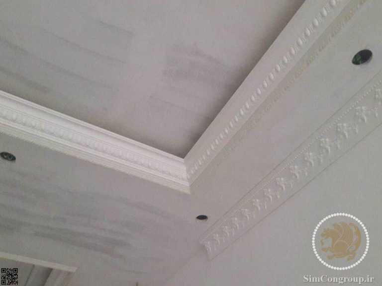 گچ کاری سقف منزل