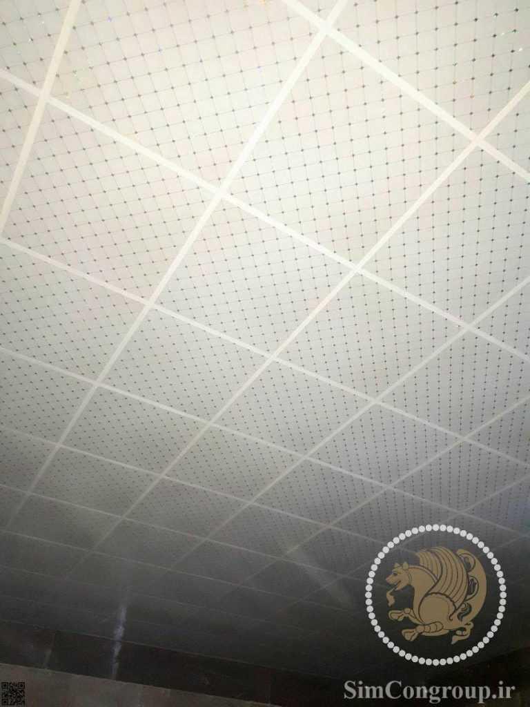 سقف کاذب پی وی سی دستشویی