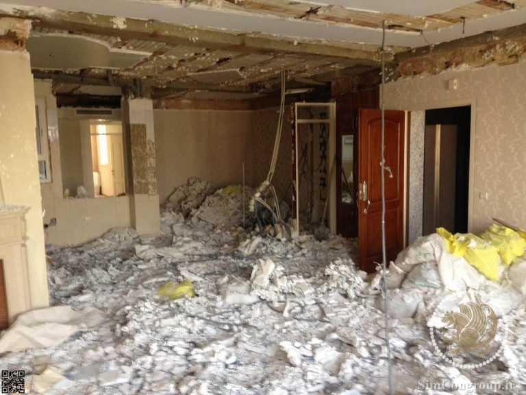 تخریب دیوار منزل