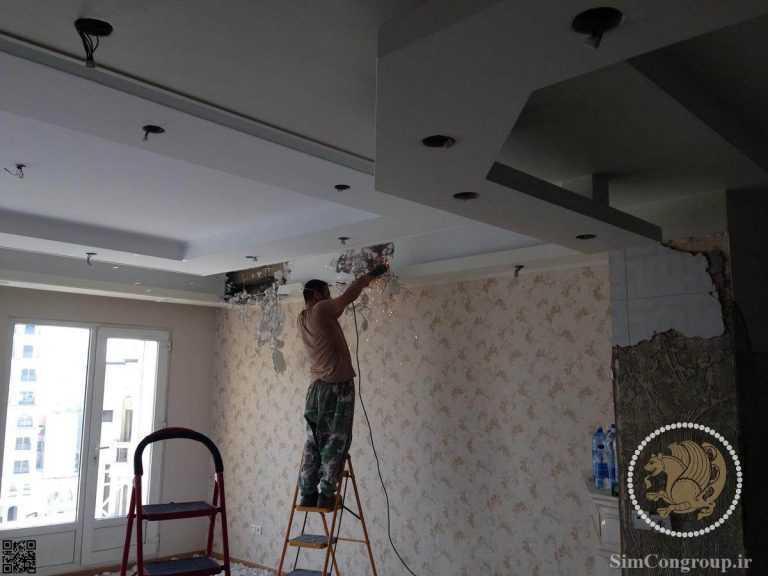 تخریب سقف منزل