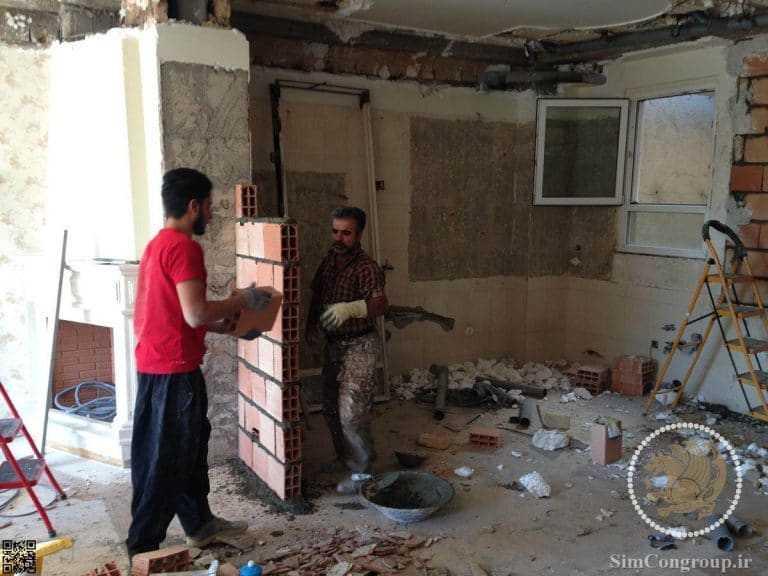تیغه کشی داخلی ساختمان