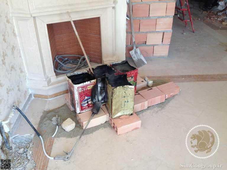 داغ کردن قیر در ساختمان