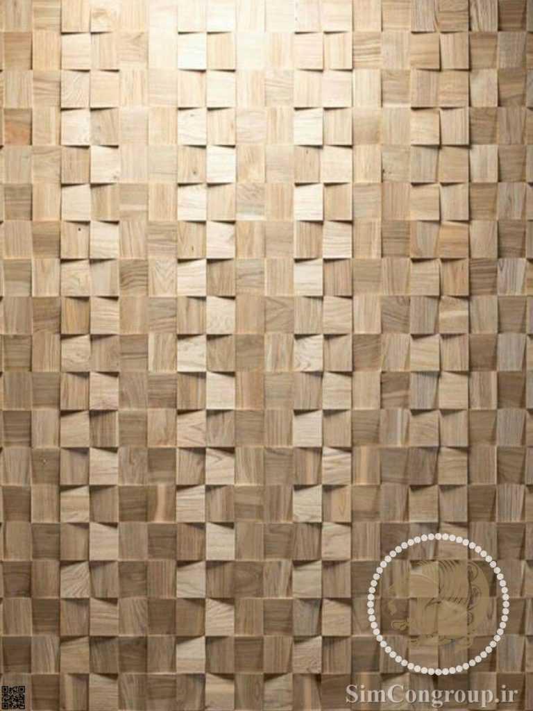 دیوارپوش برجسته چوبی