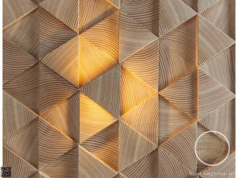 دیوارپوش سه بعدی چوب طبیعی