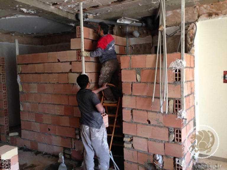 دیوارکشی داخلی ساختمان