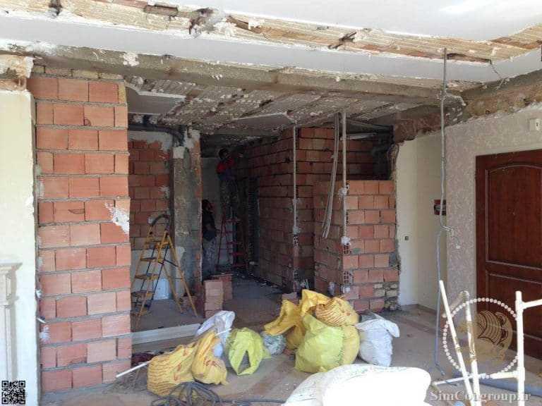 دیوارکشی داخلی منزل