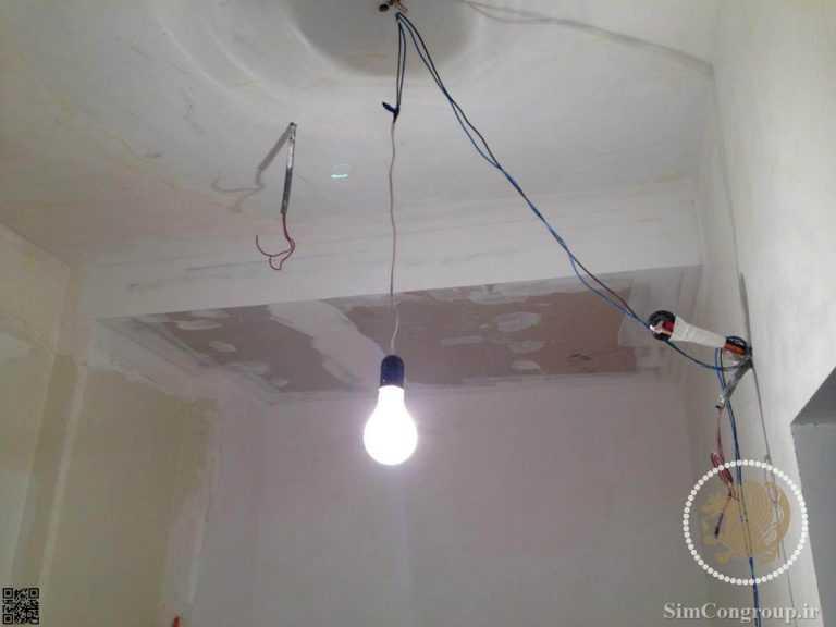 سقف کناف برای پوشش لوله ها