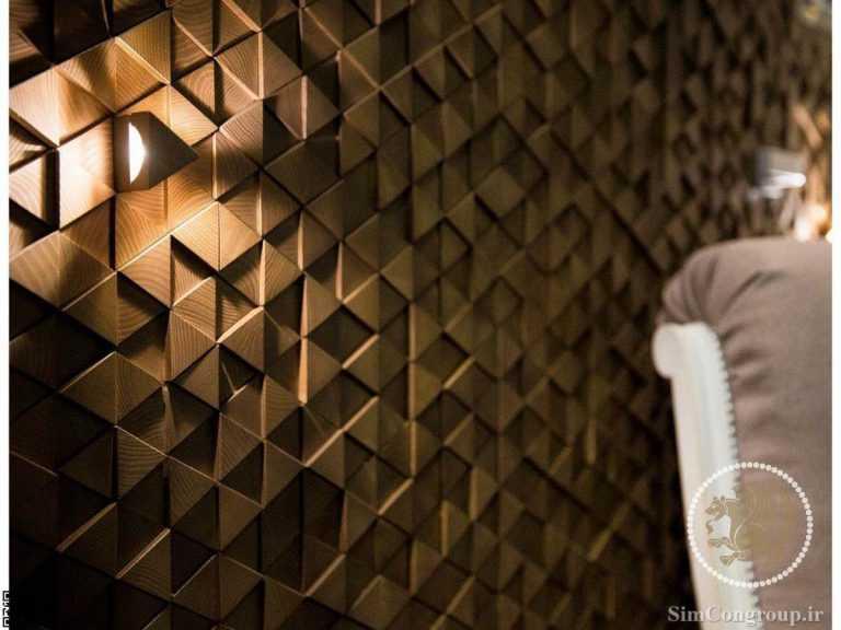نورپردازی دیوارپوش چوبی