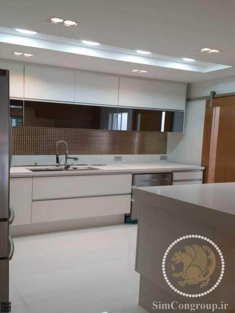 کناف و نورپردازی سقف آشپزخانه