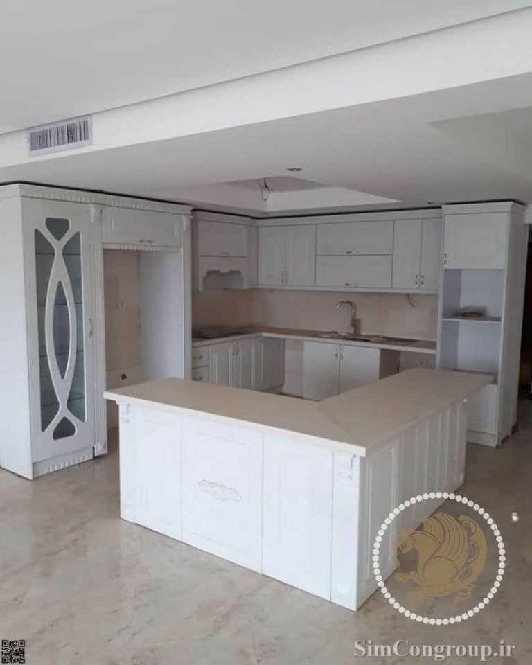 کابنت آشپزخانه ممبران سفید