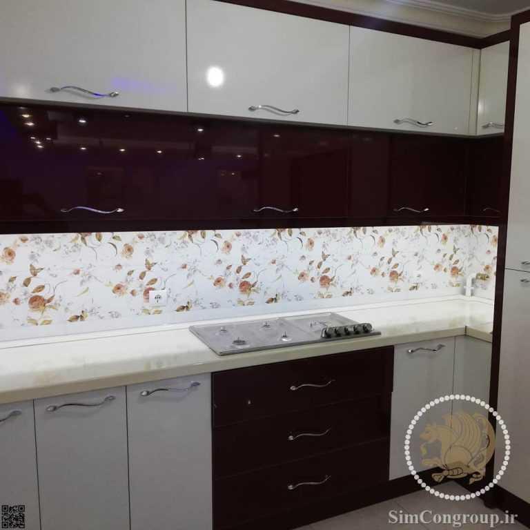 کابینت های گلاس آشپزخانه