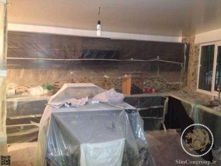 ساخت و نصب کابینت آشپزخانه منزل