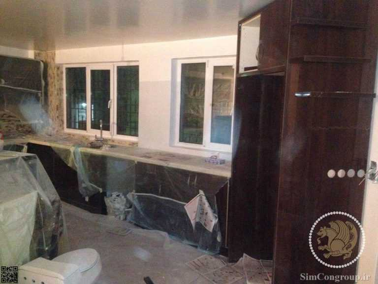 ساخت و نصب کابینت آشپزخانه خانه
