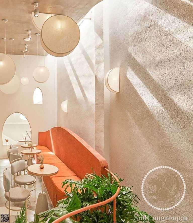 طراحی نورپردازی کافه
