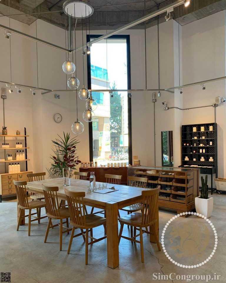 دکوراسیون کافه با طراحی صنعتی