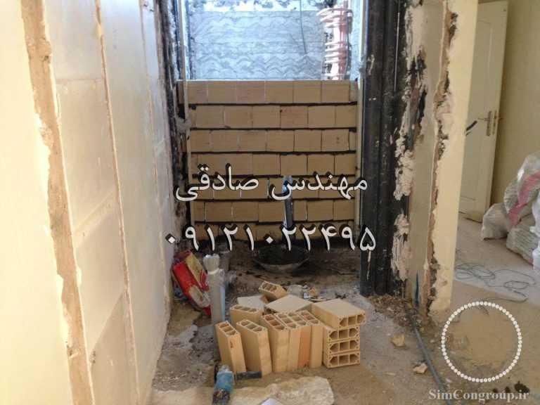 ساخت دیوار با بلوک سفالی